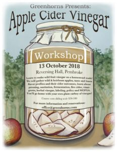 cider vinegar workshop flyer