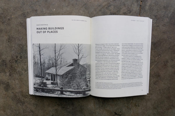 Interior spread - making buildings out of places